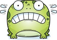 Вспугнутая маленькая лягушка иллюстрация штока