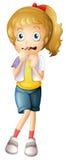 Вспугнутая маленькая девочка Стоковая Фотография