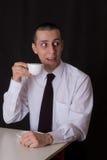 вспугнутый бизнесмен Стоковое Фото