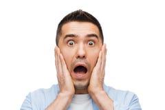 Вспугнутый кричать человека Стоковые Изображения RF