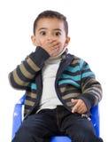 Вспугнутый мальчик Стоковое Изображение