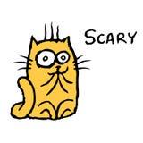 Вспугнутый оранжевый кот Tik также вектор иллюстрации притяжки corel Стоковые Изображения