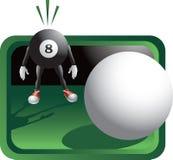 вспугнутый персонаж из мультфильма биллиарда шарика бесплатная иллюстрация