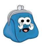 Вспугнутый шарж бумажника Стоковые Фотографии RF
