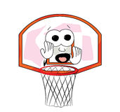 Вспугнутый шарж обруча баскетбола Стоковая Фотография