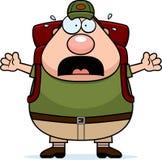 Вспугнутый Hiker шаржа бесплатная иллюстрация