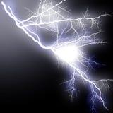 Вспышка молнии высокая разветвляя Стоковая Фотография