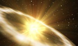 Вспышка сверхновой звезды Стоковое Изображение