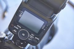 Вспышка скелетона для камеры SLR Стоковые Фотографии RF