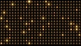 Вспышка электрических лампочек на стене видеоматериал