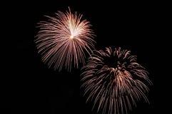 2 вспышки праздничных белых фейерверков Стоковое Изображение