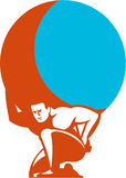 Вставать нося глобуса атласа ретро Стоковое Изображение RF