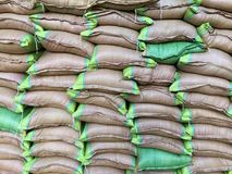 Вставленный мешков зерна Стоковая Фотография