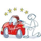 Вставьте диаграмму с доской сзажимом для бумаги и проверять автомобиль бесплатная иллюстрация