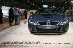 Вставляемый гибридный BMW i8 автомобиля спорт Стоковое Изображение RF