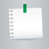 Вставляет бумагу примечания Стоковое фото RF