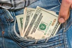 Вставлять 20 долларов Стоковая Фотография RF