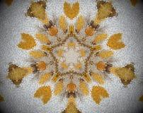 5 встали на сторону звезда конспект прессует мандала Стоковое фото RF