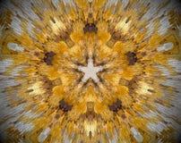 5 встали на сторону звезда конспект прессует мандала Стоковая Фотография