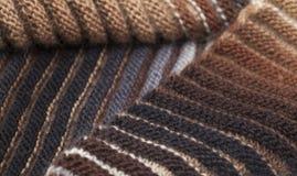 2-встали на сторону ребристый связанный шарф Стоковые Фотографии RF