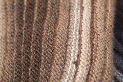 2-встали на сторону ребристый связанный шарф Стоковое Изображение RF
