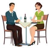 Встречать в кафе иллюстрация штока