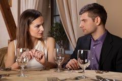 Встречать в ресторане Стоковое Фото