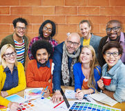 Встречать концепцию творческих способностей корпоративного соединения дизайнерскую Стоковые Фото