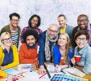 Встречать концепцию творческих способностей корпоративного соединения дизайнерскую Стоковая Фотография
