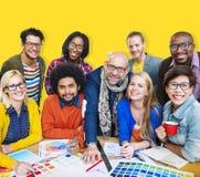 Встречать концепцию творческих способностей корпоративного соединения дизайнерскую Стоковое фото RF