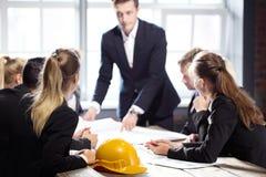 Встречать людей строительного бизнеса Стоковая Фотография