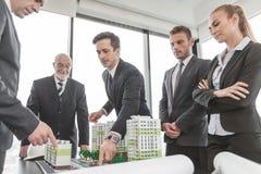 Встреча архитекторов и инвесторов Стоковое Изображение