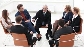 Встреча бизнесмена ведущая на зале заседаний правления Стоковое Изображение