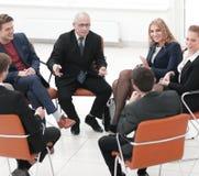 Встреча бизнесмена ведущая на зале заседаний правления Стоковое Изображение RF