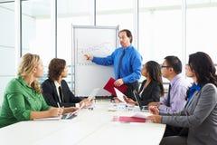 Встреча бизнесмена проводя в зале заседаний правления Стоковое Изображение RF