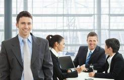 встреча бизнесмена счастливая Стоковые Изображения