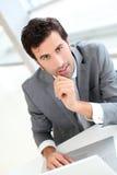 встреча бизнесмена уверенно Стоковые Фотографии RF