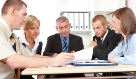 встреча бизнес-группы Стоковая Фотография RF