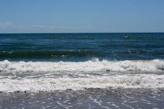 Встреча воздуха, моря, и земли Стоковое фото RF