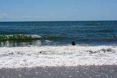 Встреча воздуха, моря, и земли Стоковые Фотографии RF