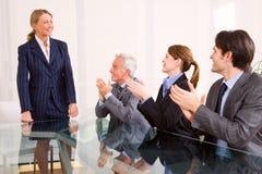 встреча коммерсантки бизнесмена Стоковое Изображение
