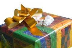 встреча коробки изолированная подарком присутствующая Стоковое фото RF