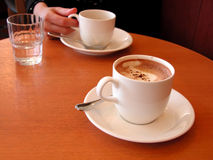 встреча кофе стоковые фотографии rf