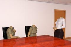 Встреча маркетинга объема продаж торгово-промышленных предприятий, безглавые женщины Стоковое Фото