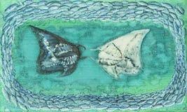 Встреча морских дьяволов Стоковая Фотография RF