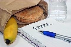 встреча обеда мешка коричневая Стоковая Фотография RF