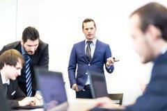 Встреча офиса команды корпоративного бизнеса Стоковые Изображения RF