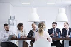 Встреча рекрутства в компании Стоковая Фотография RF