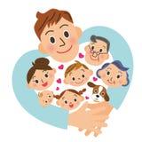 встреча семьи Стоковое Изображение RF