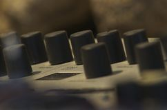 Встреча съемки к аудио приборам стоковые изображения
